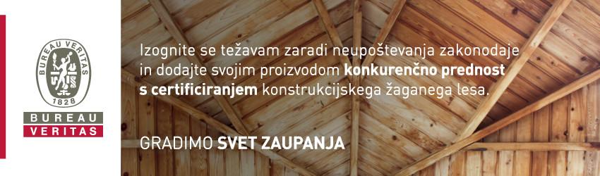 Bureau Veritas - Gradimo svet zaupanja - certificiranje konstrukcijskega lesa