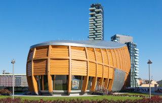 Moderna lesena zgradba